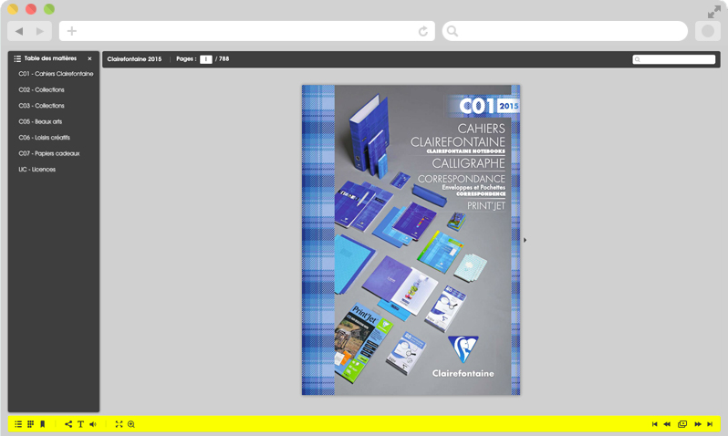 E catalogue Clairefontaine